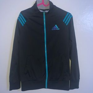 Blue Zip Up Adidas Jacket